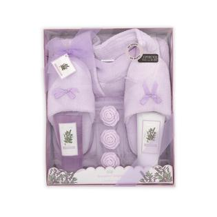 Brompton & Langley Women's Plush Robe Slippers Gift Set - Lavender at Sears.com
