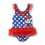 Disney Baby Minnie Mouse Infant & Toddler Girl's Swimsuit - Polka Dots at Kmart.com