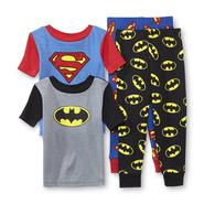 DC Comics Toddler Boy's 2-Pairs Pajamas - Batman & Superman at Kmart.com