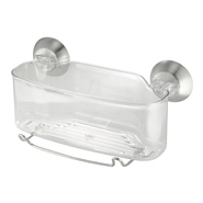 InterDesign USA Forma Powerlock Suction Shower Basket Clear at Kmart.com