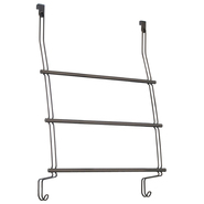 InterDesign USA Classico Over Shower Door Towel Rack 3 Bronze at Kmart.com
