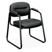 Basyx VL653 Guest Side Chair, Black Leather/Black Frame at Kmart.com