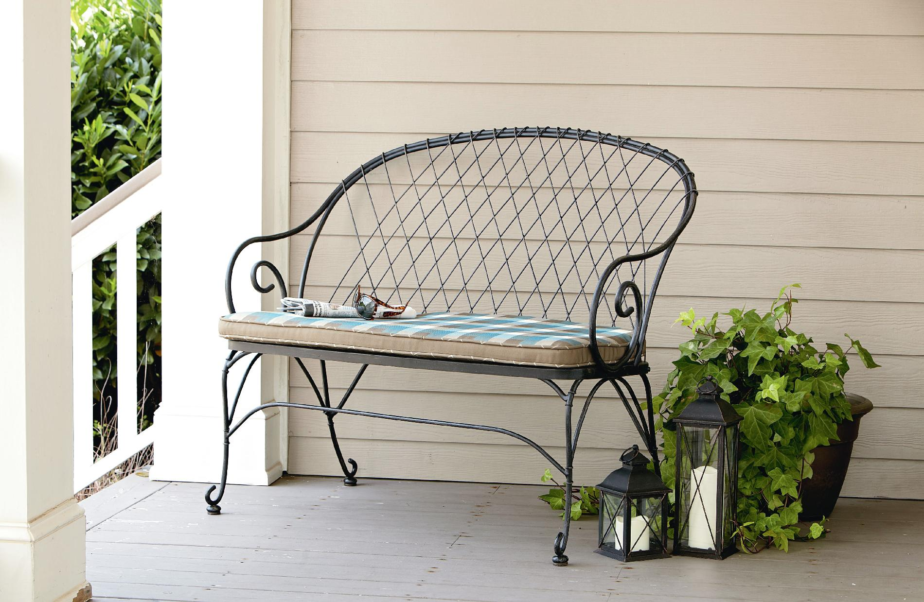 Jaclyn Smith Cherry Valley 2 Person Bench - Blue* Limited Availability