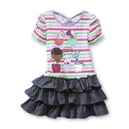 Disney Baby Doc McStuffins Toddler Girl's Drop-Waist Dress - Stripe at Kmart.com