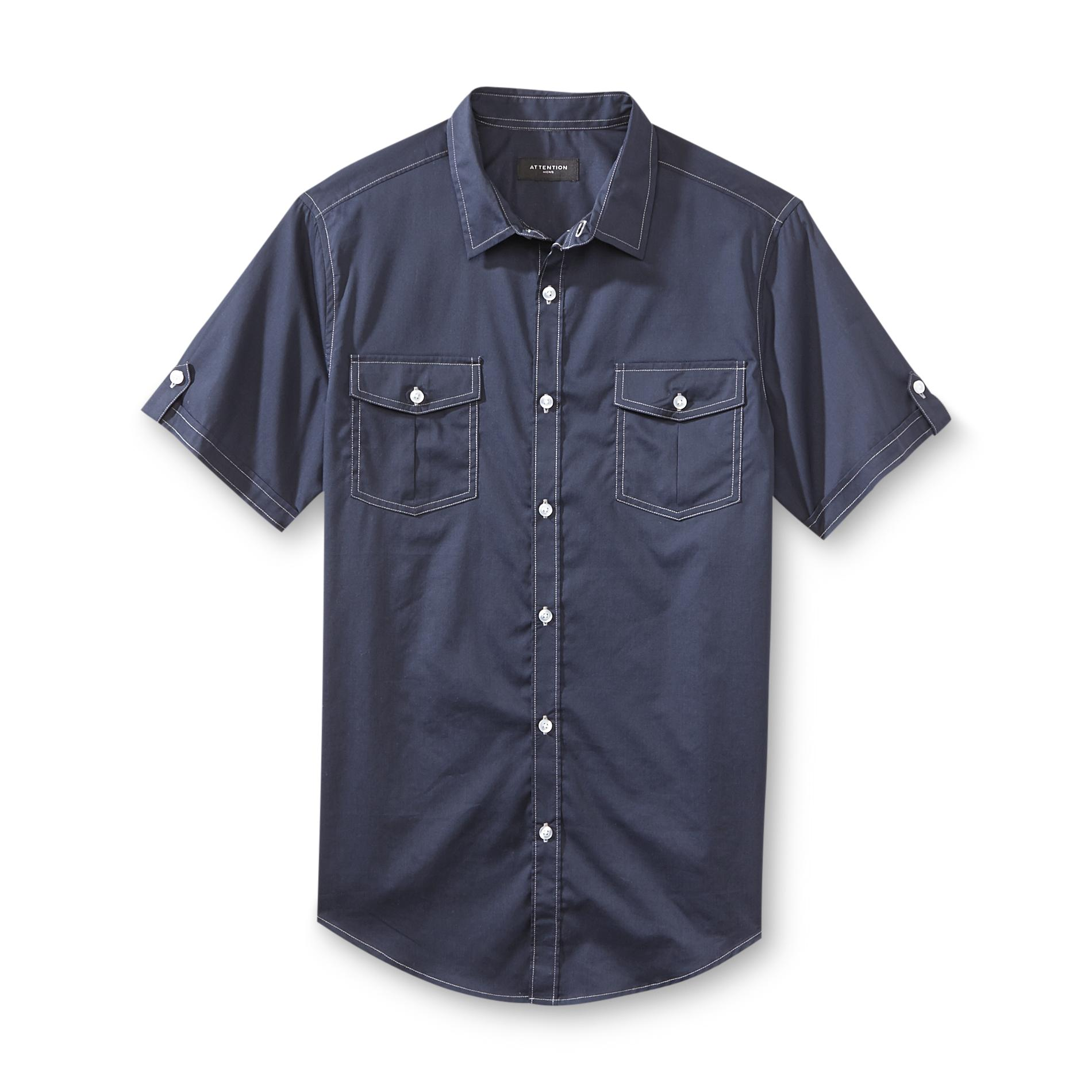 Attention Men's Short-Sleeve Casual Shirt at Kmart.com