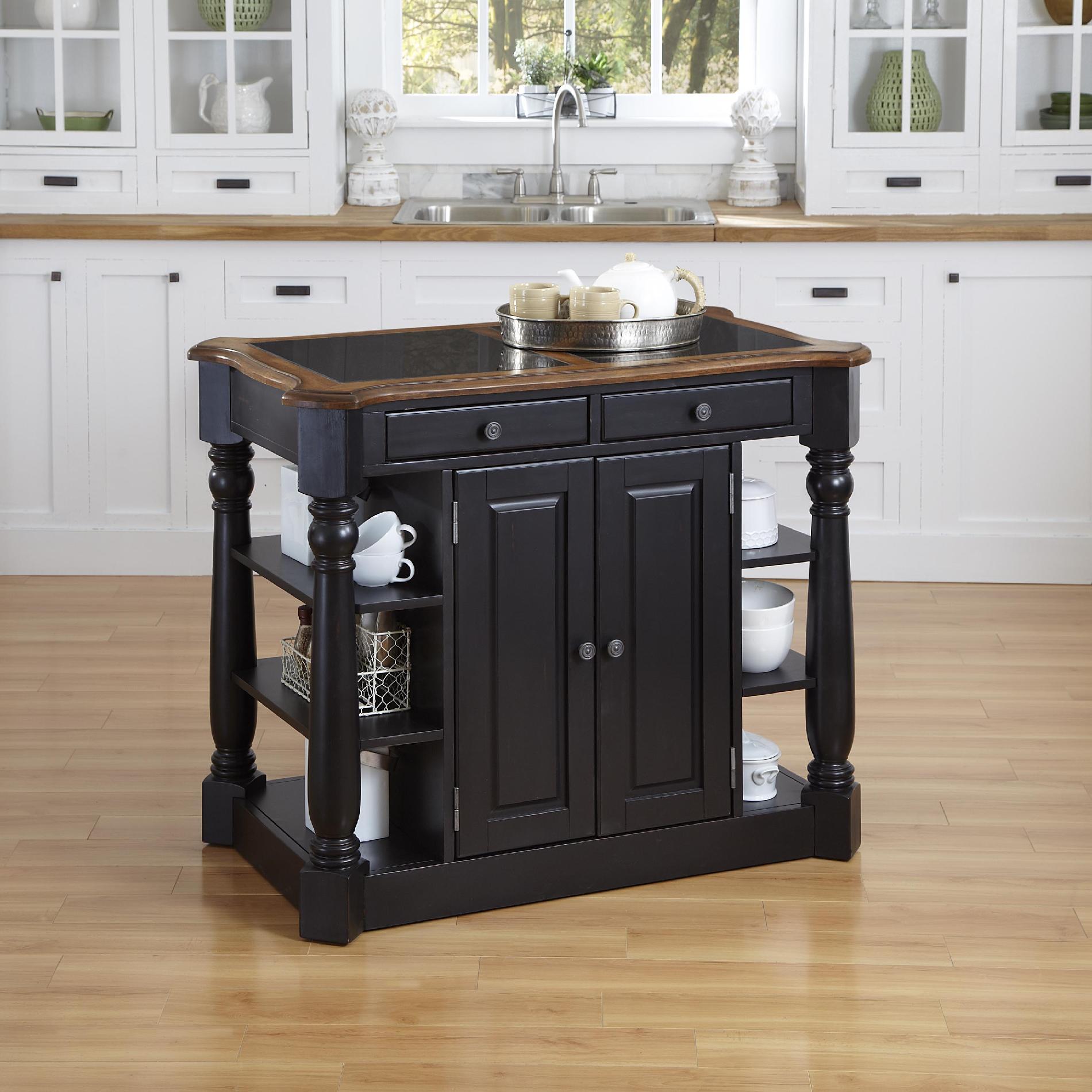 Marvelous Home Styles Americana Granite Kitchen Island   Sears