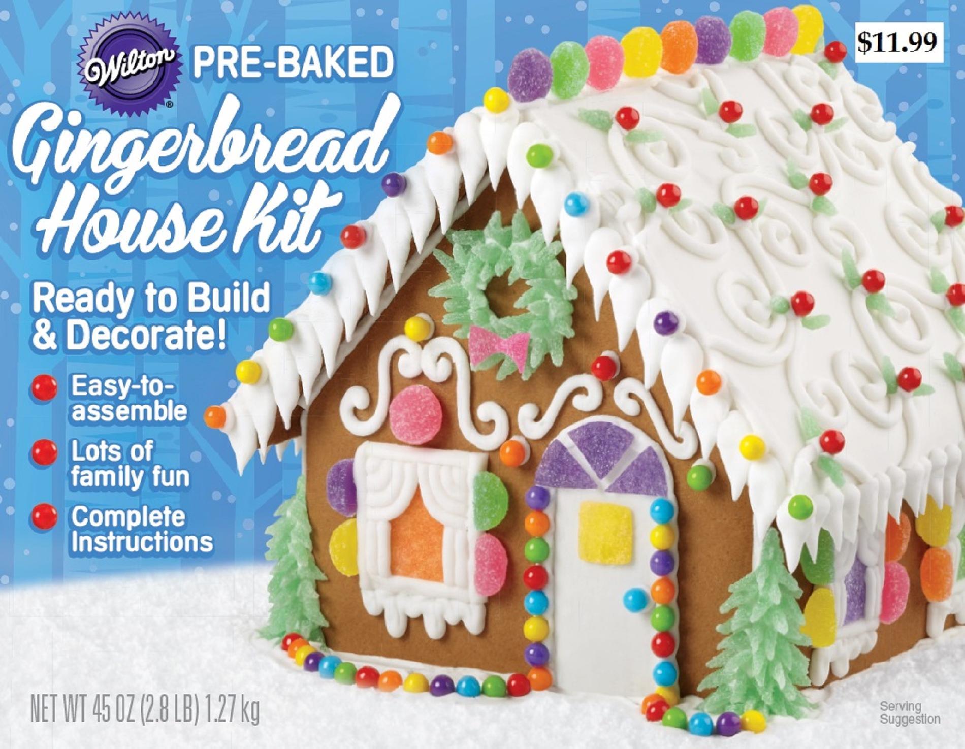 Pre-Baked Unassembled Gingerbread Cottage Kit