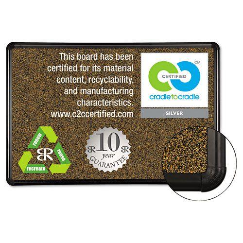 Best-Rite Black Splash-Cork Board, 36x24, Natural Cork