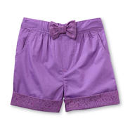 Toughskins Girl's Cuffed Poplin Shorts - Lace at Sears.com