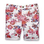 Vanilla Star Girl's Printed Bermuda Shorts - Floral at Sears.com