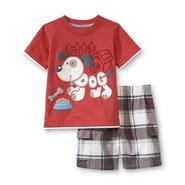 Kids Headquarters Infant Boy's Graphic T-Shirt & Plaid Shorts - Dog at Sears.com