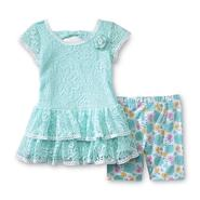 WonderKids Infant & Toddler Girl's Lace Dress & Capri Leggings - Floral at Kmart.com