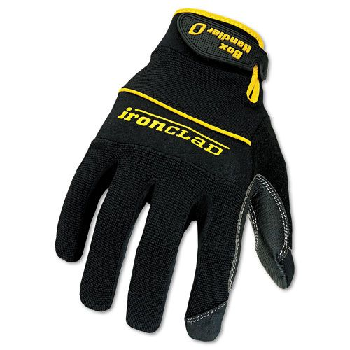 Box Handler Gloves, One Pair, Black, Large