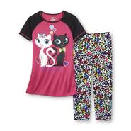 Joe Boxer Girl's Pajama Top & Bottoms - Kitty Love at Kmart.com