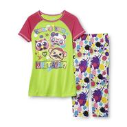 Joe Boxer Girl's Pajama Top & Bottoms - Mustache at Kmart.com