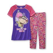 Joe Boxer Girl's Pajama Top & Bottoms - Funky Monkey at Kmart.com