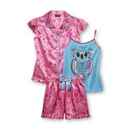 Joe Boxer Girl's Pajama Shirt, Tank Top & Shorts - Hearts & Owl at Kmart.com