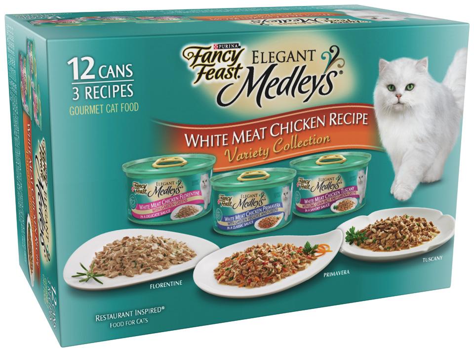 Fancy Feast Elegant Medleys White Meat Chicken Recipe Variety Collection Gourmet 12 Cans im test