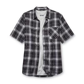 Basic Editions Men's Button-Front Shirt & T-Shirt - Plaid at Kmart.com