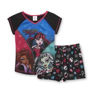 Monster High Girl's Pajama Top & Shorts - Monster High at Kmart.com