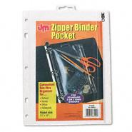 Oxford Zippered Ring Binder Pocket, 10-1/2x8, Clear/White at Kmart.com