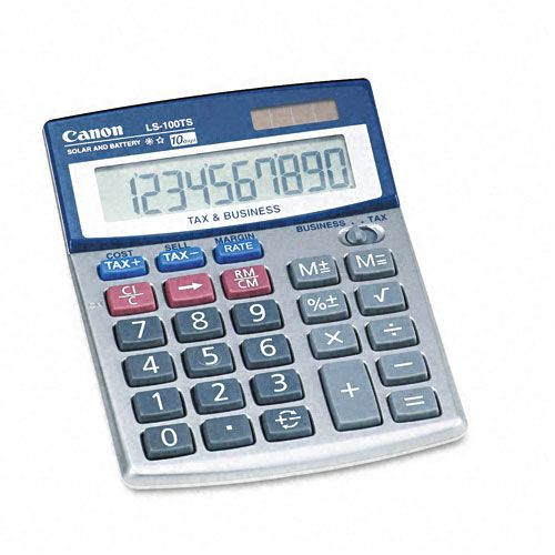 Canon LS-100TS Compact Desktop Calculator, 10-Digit LCD