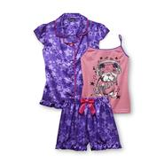 Joe Boxer Girl's Pajama Shirt, Tank Top & Shorts - Stars & Dog at Kmart.com