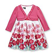 Holiday Editions Infant & Toddler Girl's Party Dress & Shrug - Floral at Kmart.com