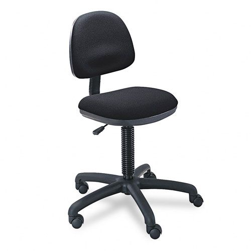 Precision Desk-Height Swivel Chair, Black Fabric