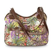 Jaclyn Smith Women's Alexandra 4-Poster Faux Leather Handbag - Tropical at Kmart.com