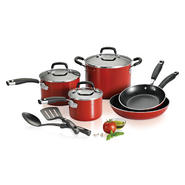 Kenmore 10-Piece Aluminum Cookware Set - Red at Sears.com