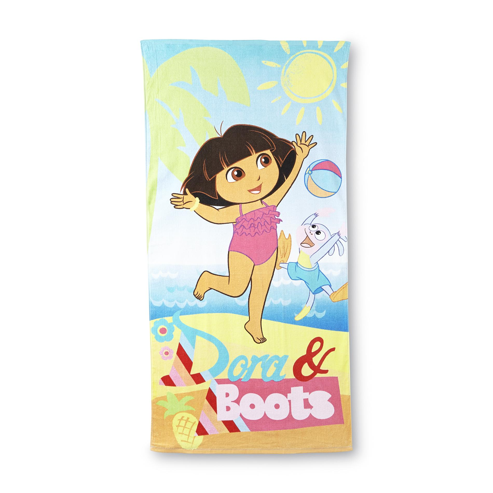 Dora The Explorer Girl's Beach Towel - Dora & Boots