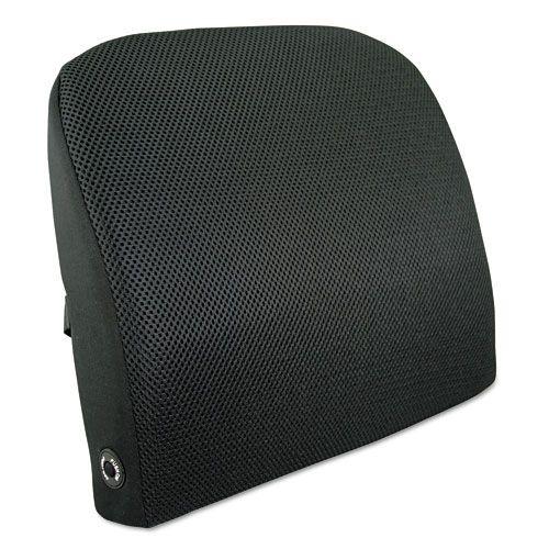 Memory Foam Massage Lumbar Cushion, 12-3/4w x 3-3/4d x 12h, Black PartNumber: 05029925000P