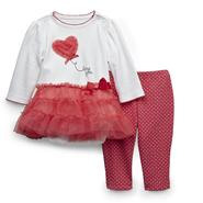 Little Wonders Newborn & Infant Girl's Valentine's Tutu Bodysuit & Leggings - Love You at Sears.com