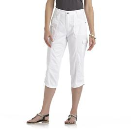 Basic Editions Women's Plus Cargo Capri Pants at Kmart.com