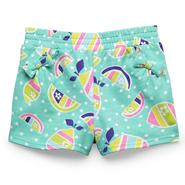 WonderKids Infant & Toddler Girl's Bow-Pocket French Terry Shorts - Neon Fruit at Kmart.com