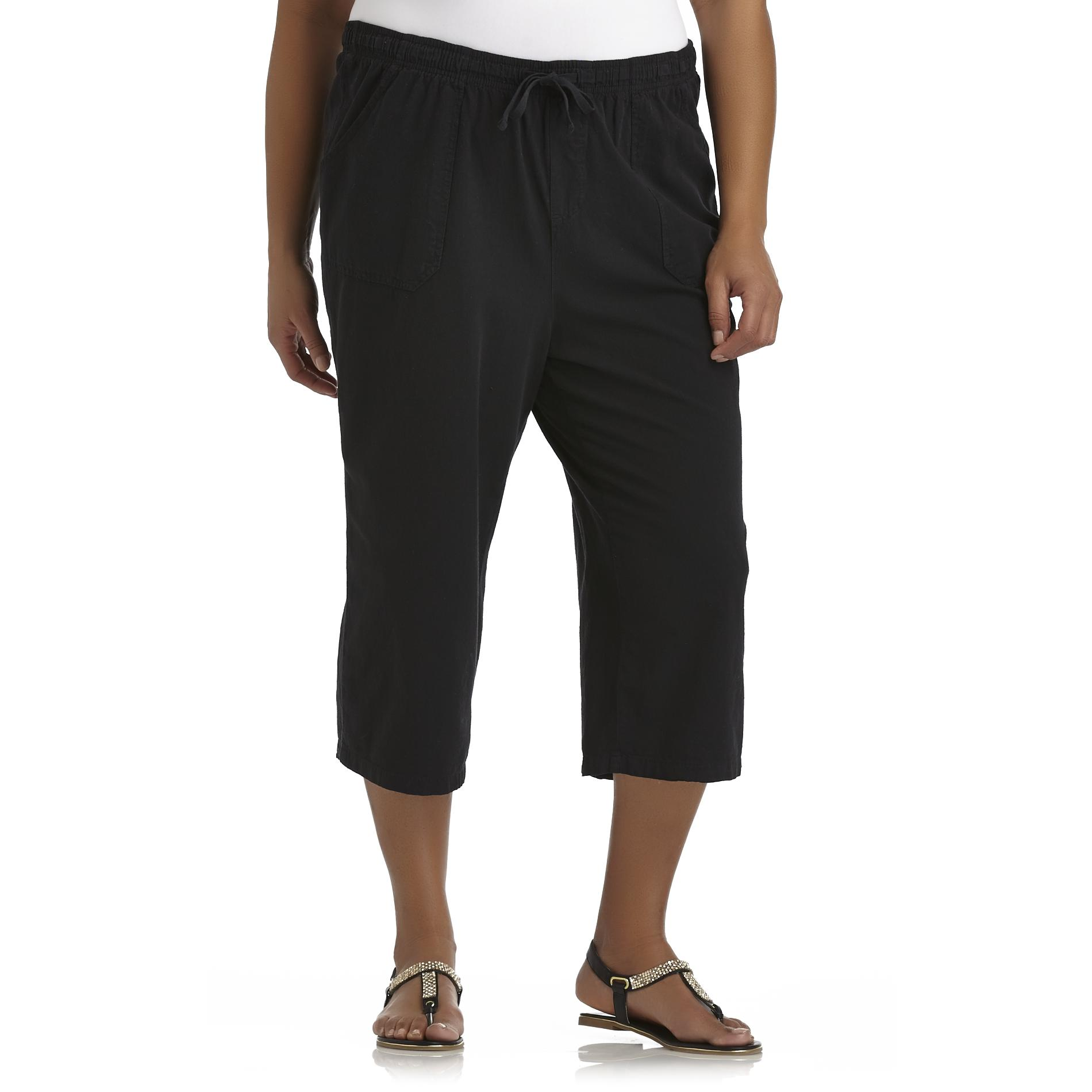 Basic Editions Women's Plus Casual Capris at Kmart.com