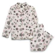 Joe Boxer Women's Plus Flannel Pajama Top & Pants - Snowflakes at Kmart.com