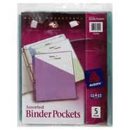 Avery Advantages Binder Pockets, Assorted, 5 pack at Kmart.com