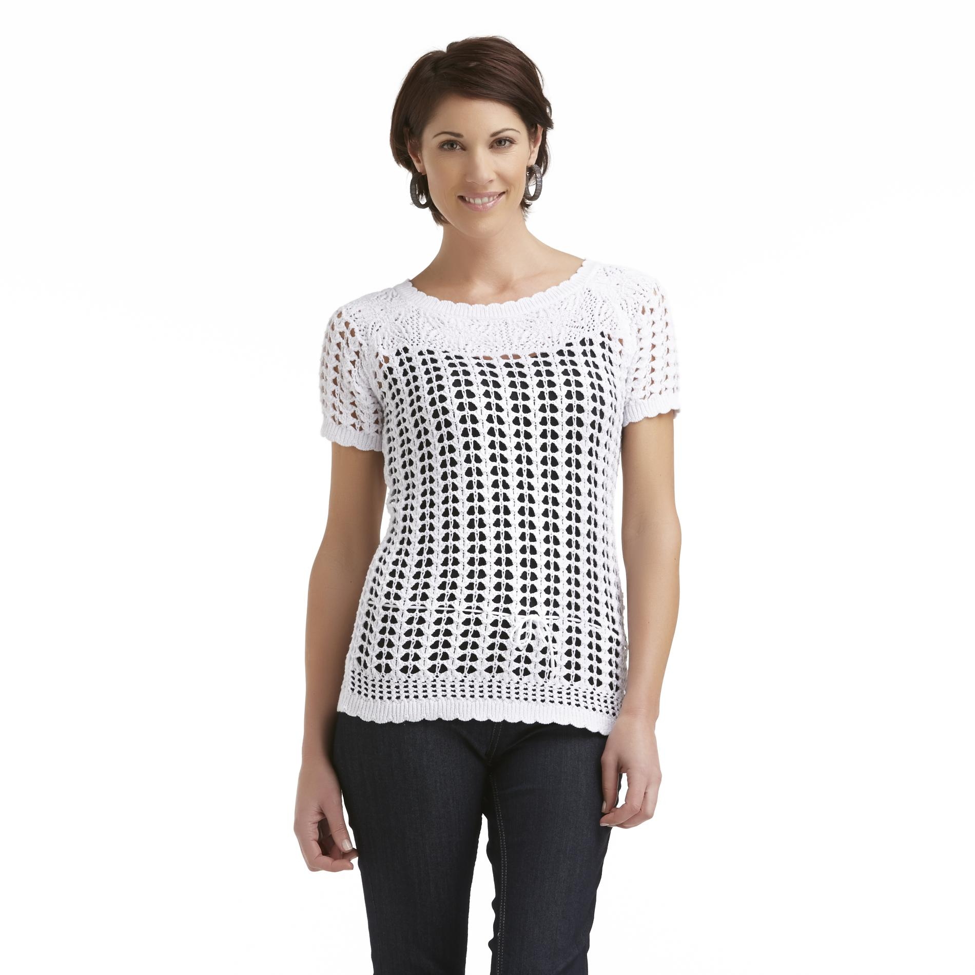 Jaclyn Smith Women's Open Weave Sweater at Kmart.com