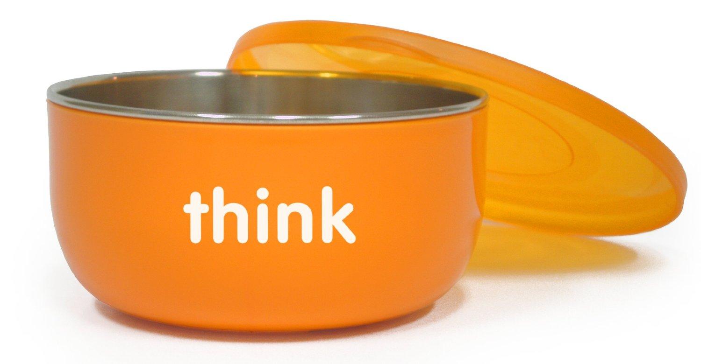 Thinkbaby BPA Free Toddler Soup or Cereal Bowl - Orange