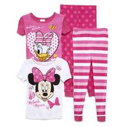 Disney Baby Toddler Girl's 2-Pairs Pajamas - Minnie Mouse & Daisy Duck at Kmart.com