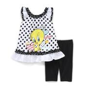 Warner Brothers Newborn Girl's Top & Leggings - Tweety Bird at Kmart.com