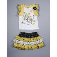 Young Hearts Infant & Toddler Girl's Graphic Top & Scooter Skirt - Floral & Butterflies at Sears.com