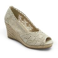 Jaclyn Smith Women's Arlena Neutral Crocheted Espadrille Wedge at Kmart.com