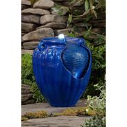 Essential Garden Blue Glazed Pot Fountain at Sears.com