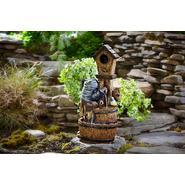 Essential Garden Bird House Barrel Fountain with 2 LED lights at Sears.com