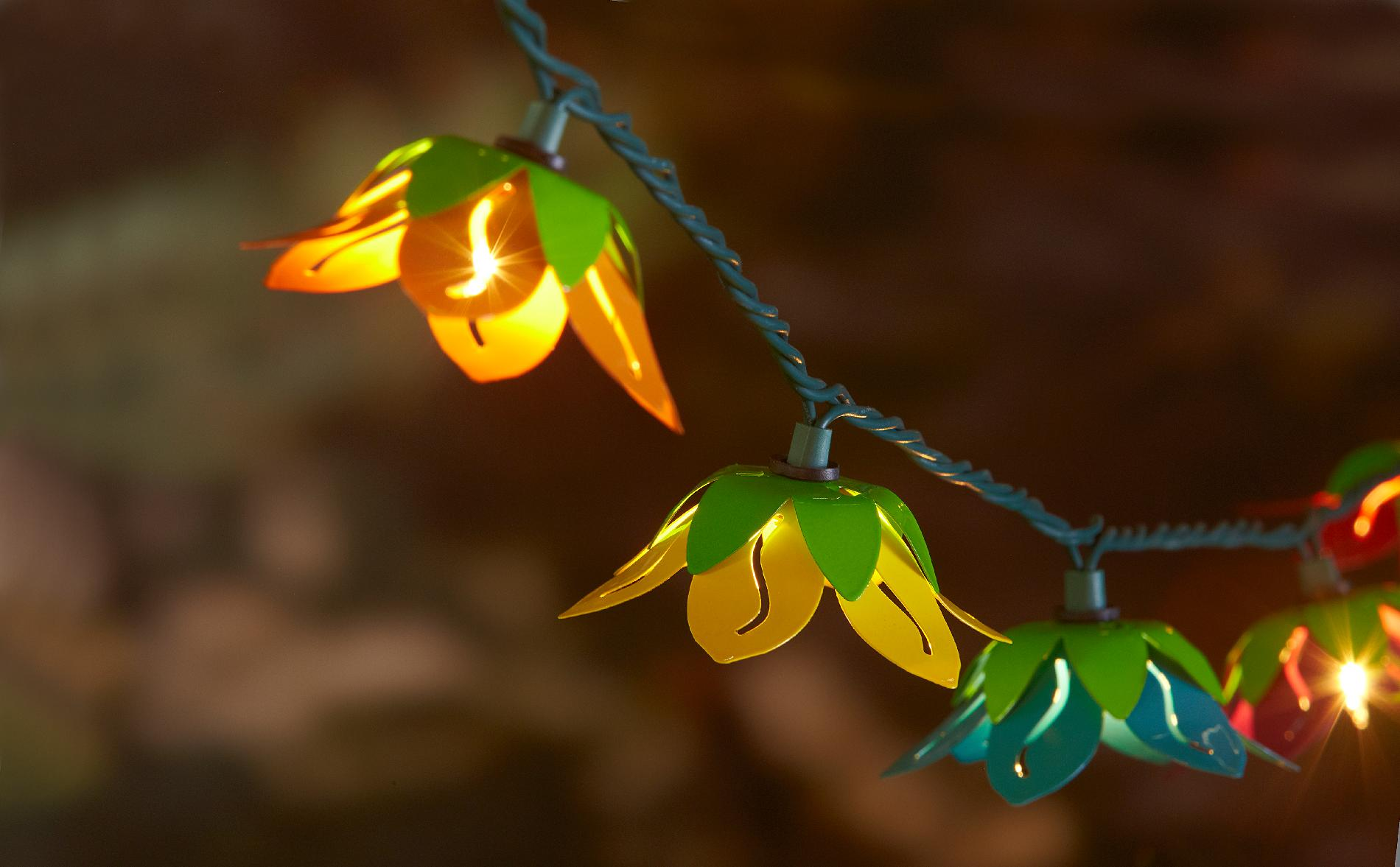 String Lights With Flowers : Essential Garden 10Ct. String Lights- Flowers