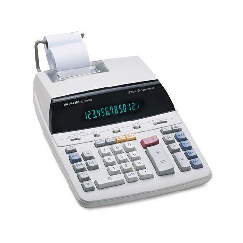 Sharp EL2192RII Two-Color Roller Printing Calculator