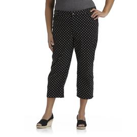Basic Editions Women's Plus Twill Capris - Polka Dot at Kmart.com
